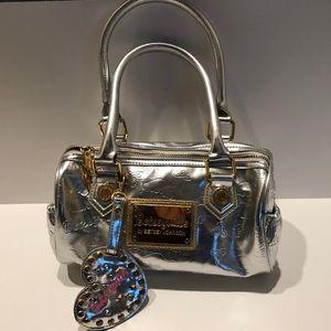 Betsey Johnson Betseyville Silver Bag